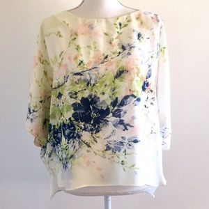 Gorgeous Sheer Floral Batwing Blouse
